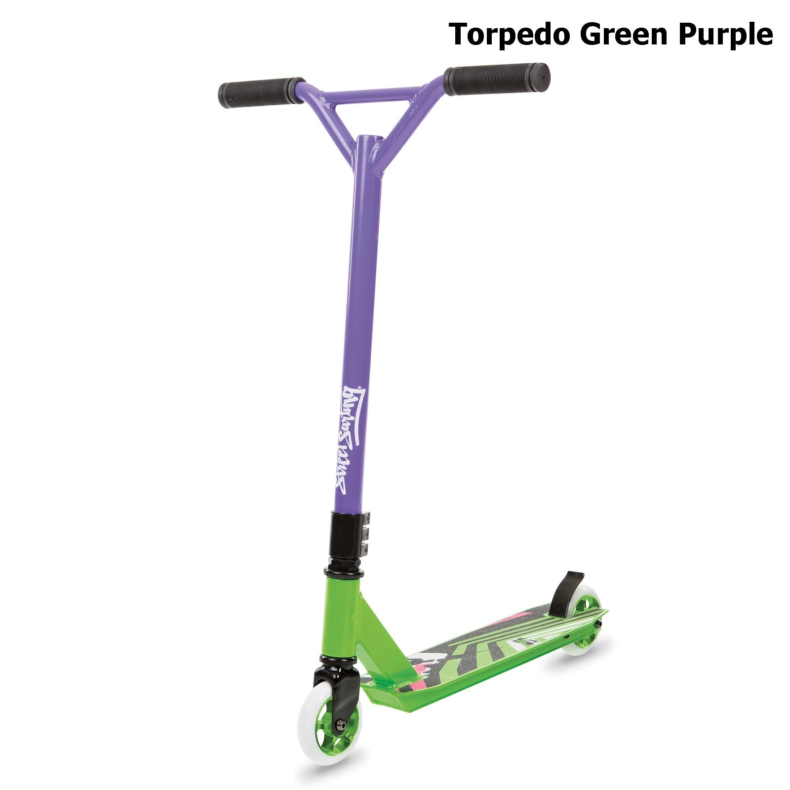 Freestylová koloběžka STREET SURFING Torpedo - zeleno-fialová
