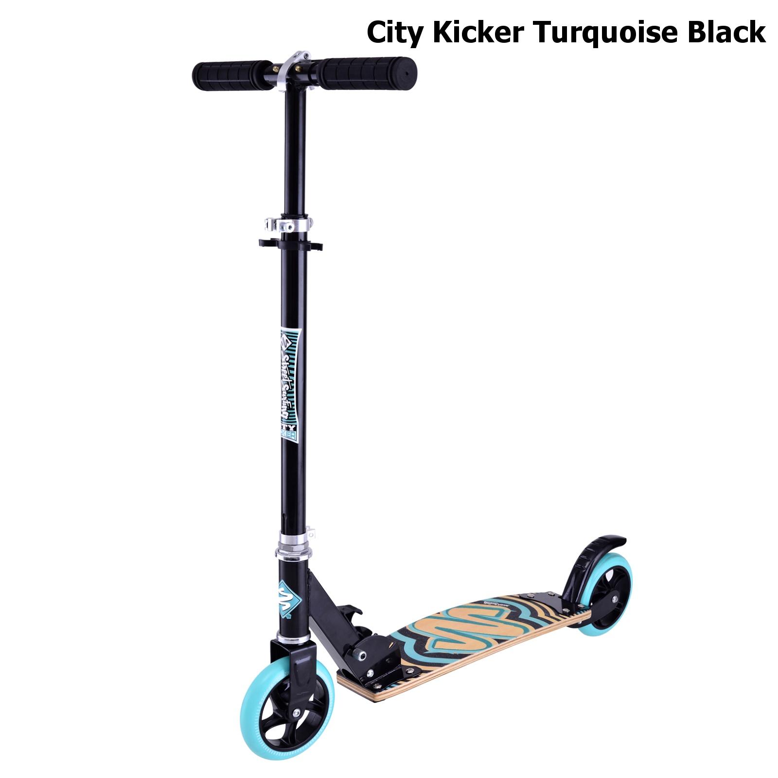Koloběžka STREET SURFING City Kicker - tyrkysově-černá