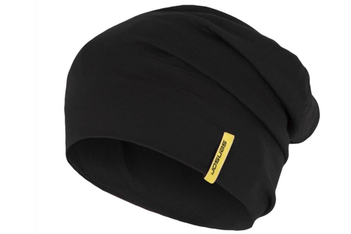Čepice SENSOR Merino wool M - černá
