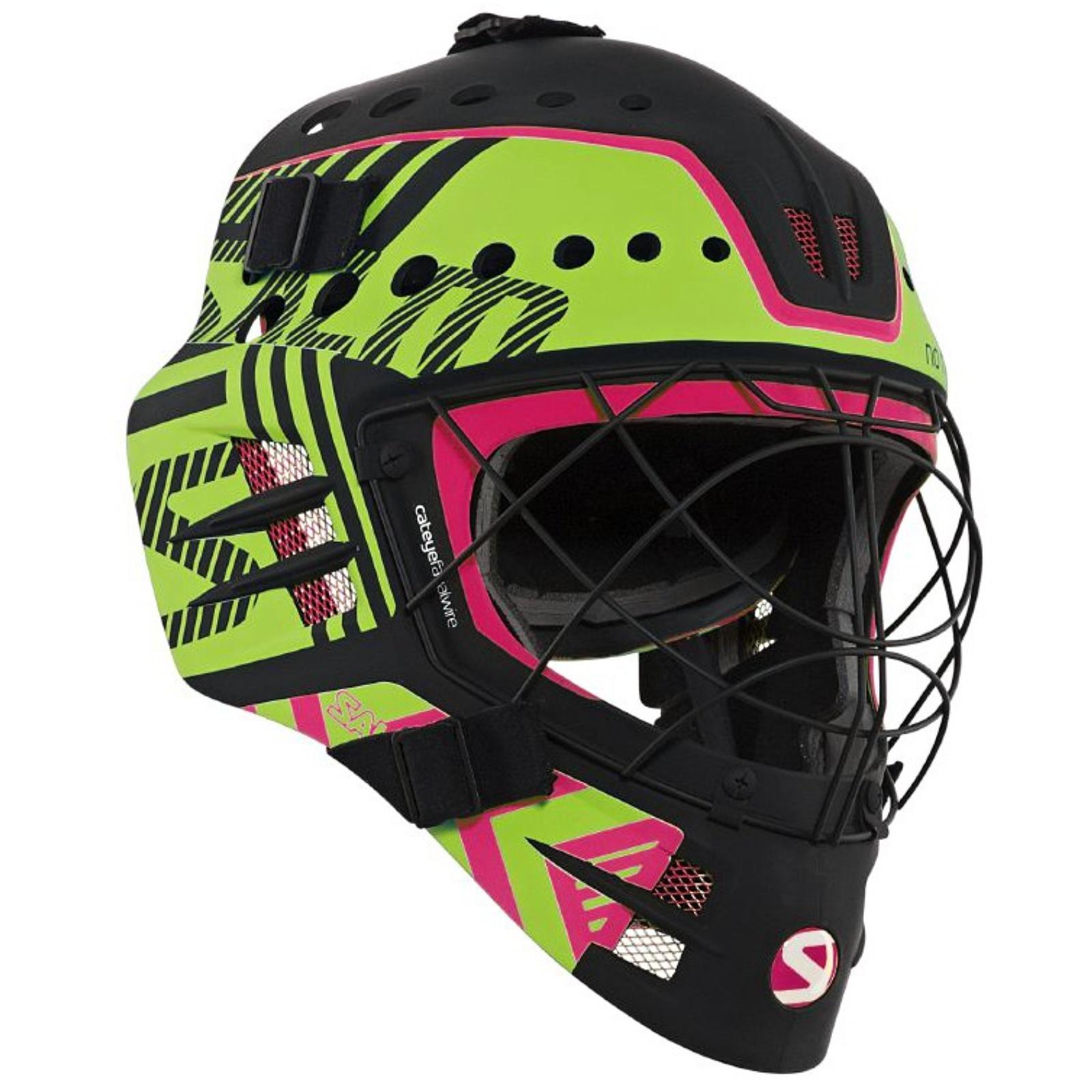 Florbalová maska SALMING Travis Elite Helmet černo-zelená
