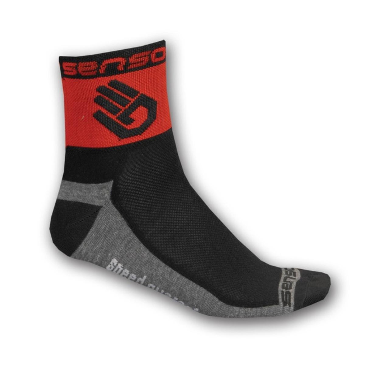 Ponožky SENSOR Race Lite Ruka 3-5 červené