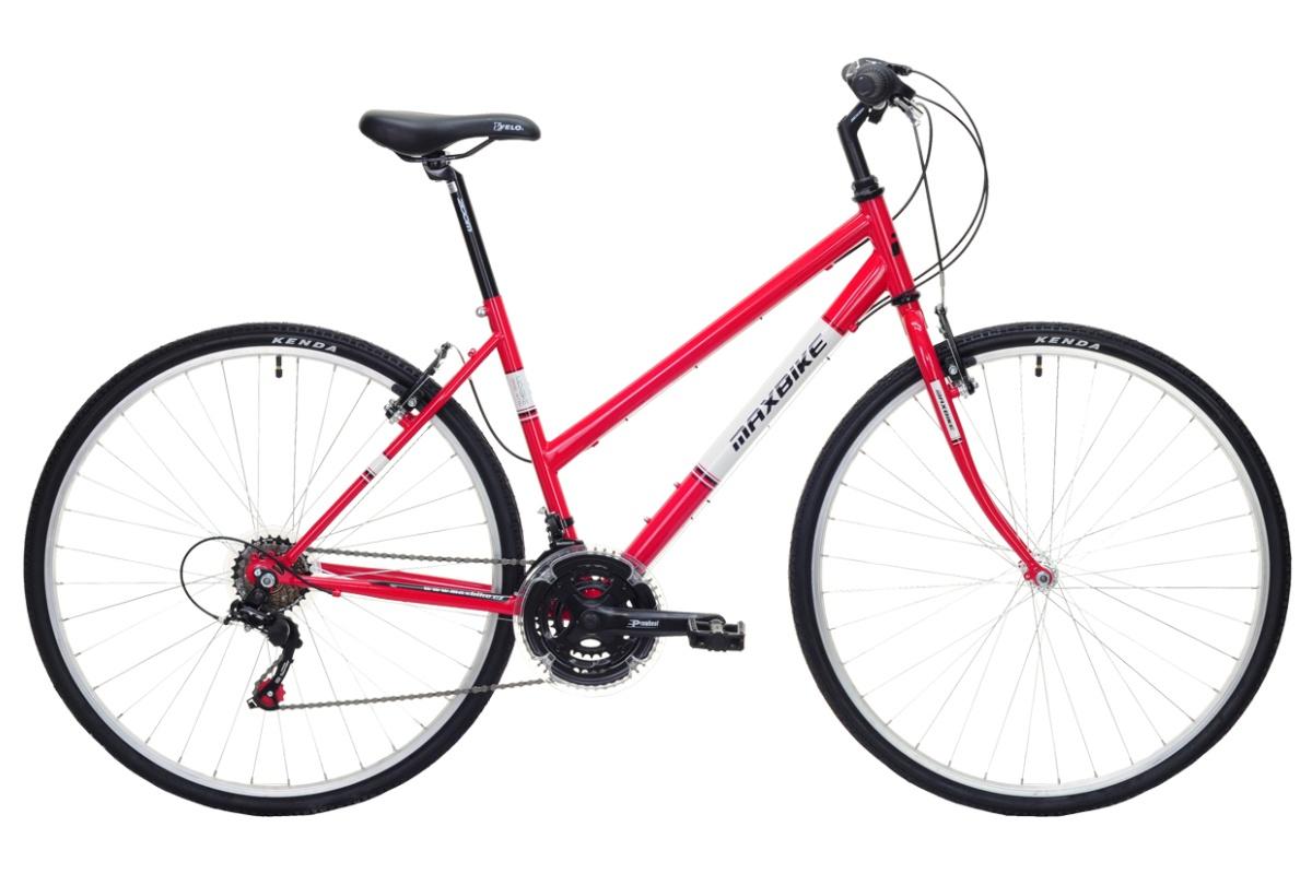 """Krosové kolo MAXBIKE Basic II velikost rámu 16"""" dámské - červené"""