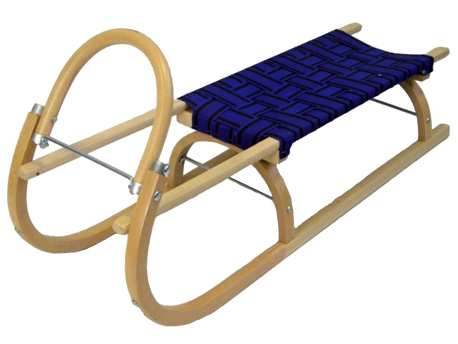 Sáně dřevěné SULOV délka 110 cm - modré