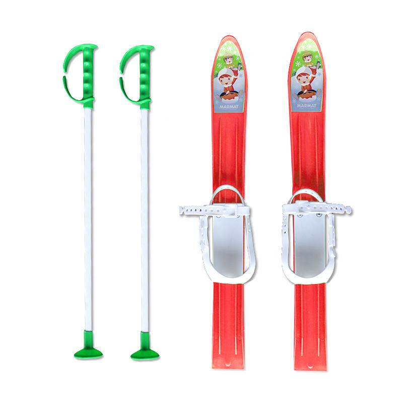 Baby Ski 60 cm - dětské plastové lyže - červené