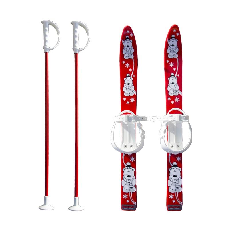 Baby Ski 70 cm - dětské plastové lyže - červené