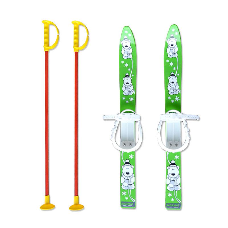 Baby Ski 70 cm - dětské plastové lyže - zelené