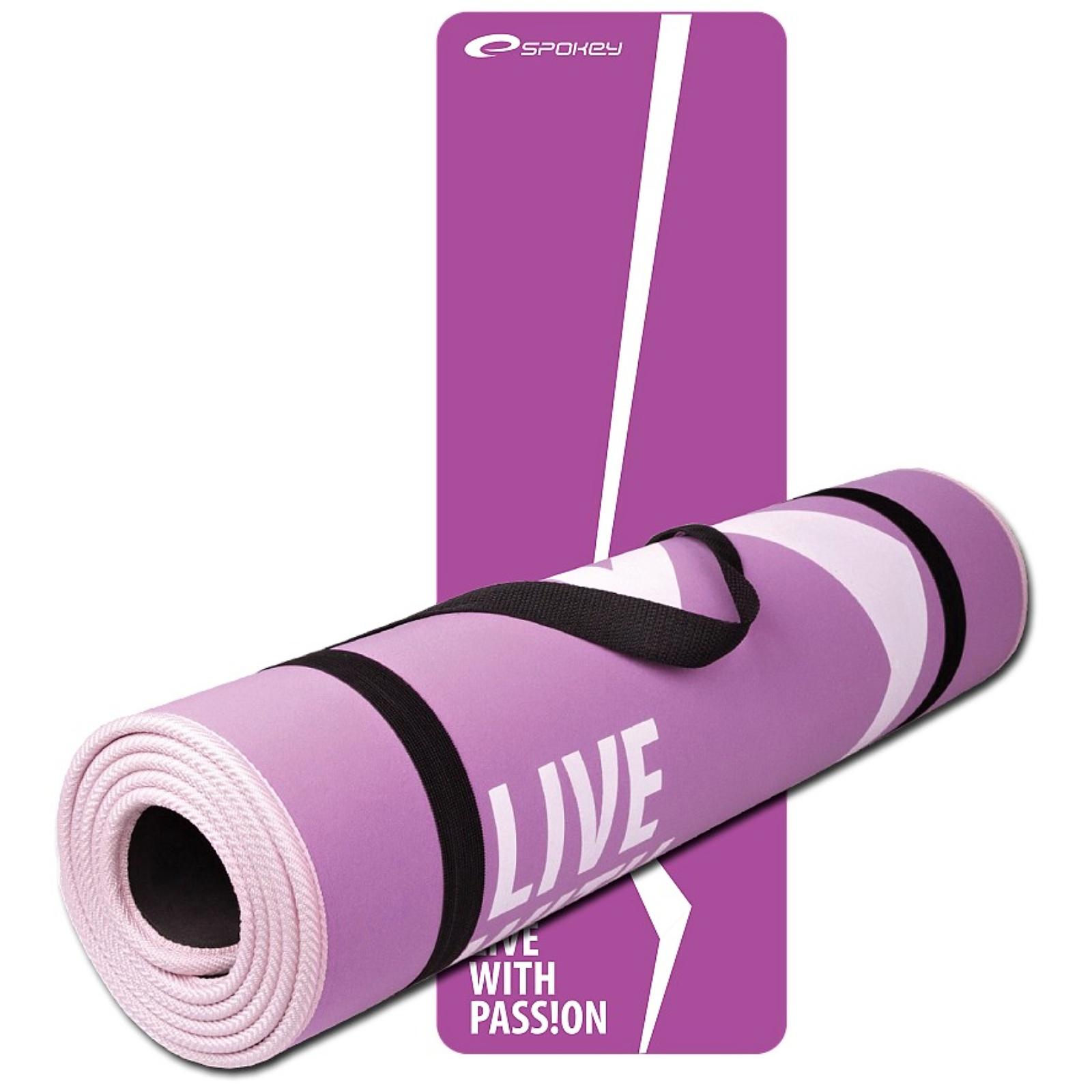 Podložka na cvičení SPOKEY Flexmat růžovo-fialová