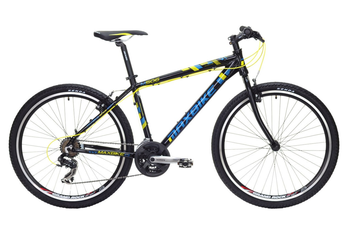 """Horské kolo MAXBIKE Meru 26 2016 velikost rámu 15"""" - matně černé"""