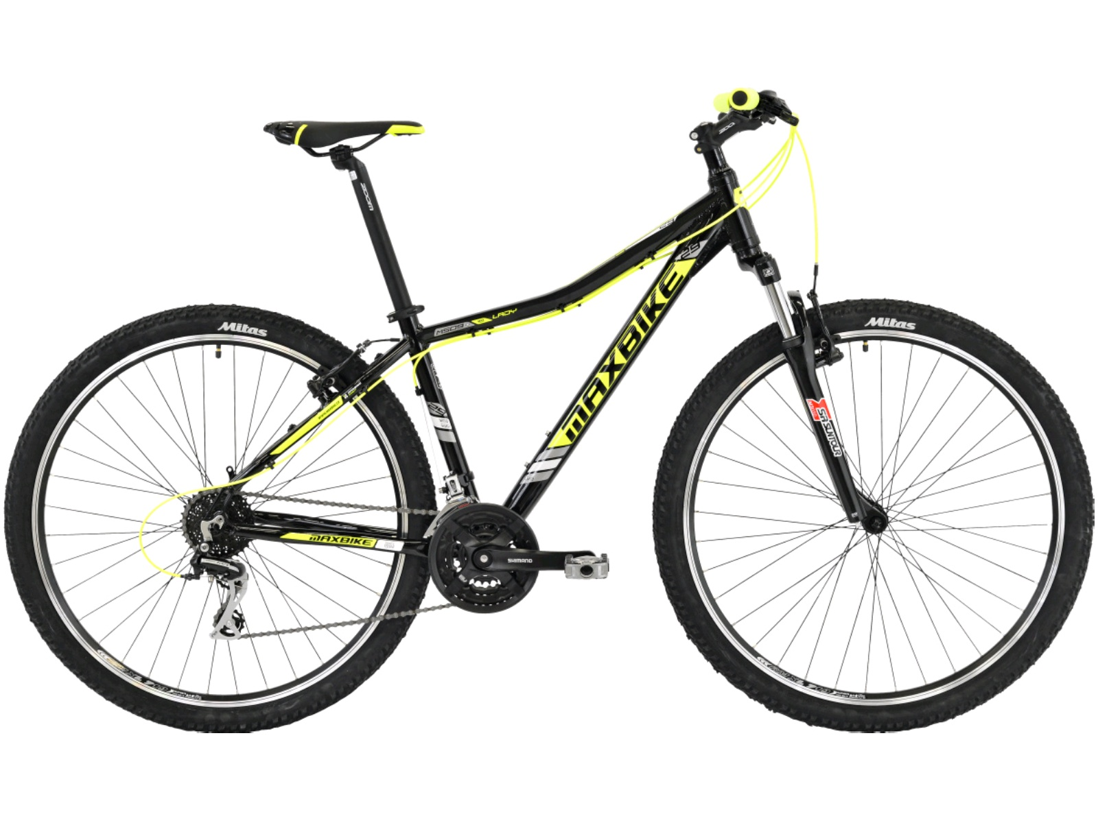"""Horské kolo MAXBIKE Nimba 29 dámské žluté - vel. rámu 17"""""""