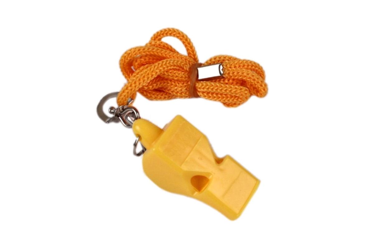 Píšťalka plastová SPOKEY Mayday žlutá
