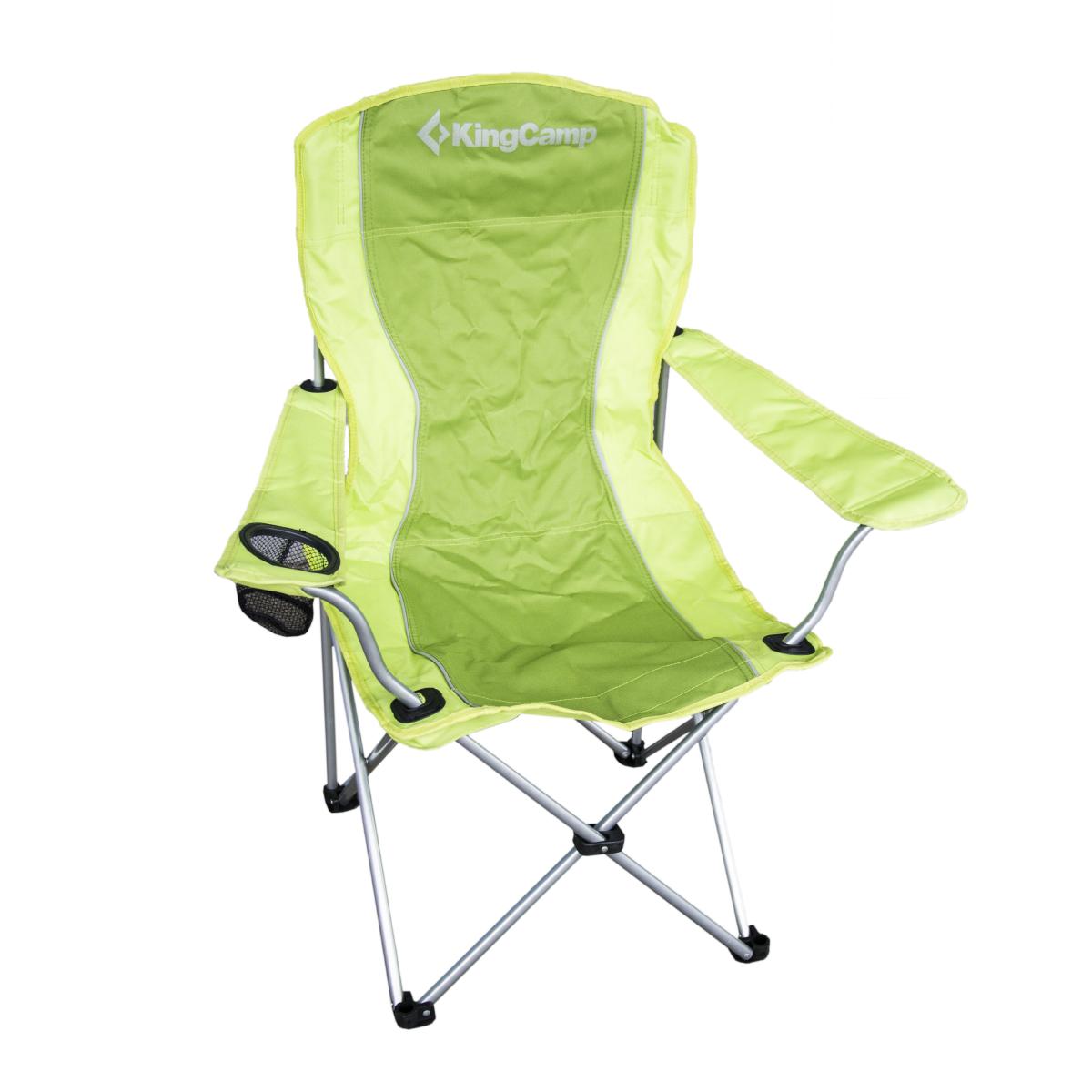 Campingová skládací židle ocelová s opěrkami