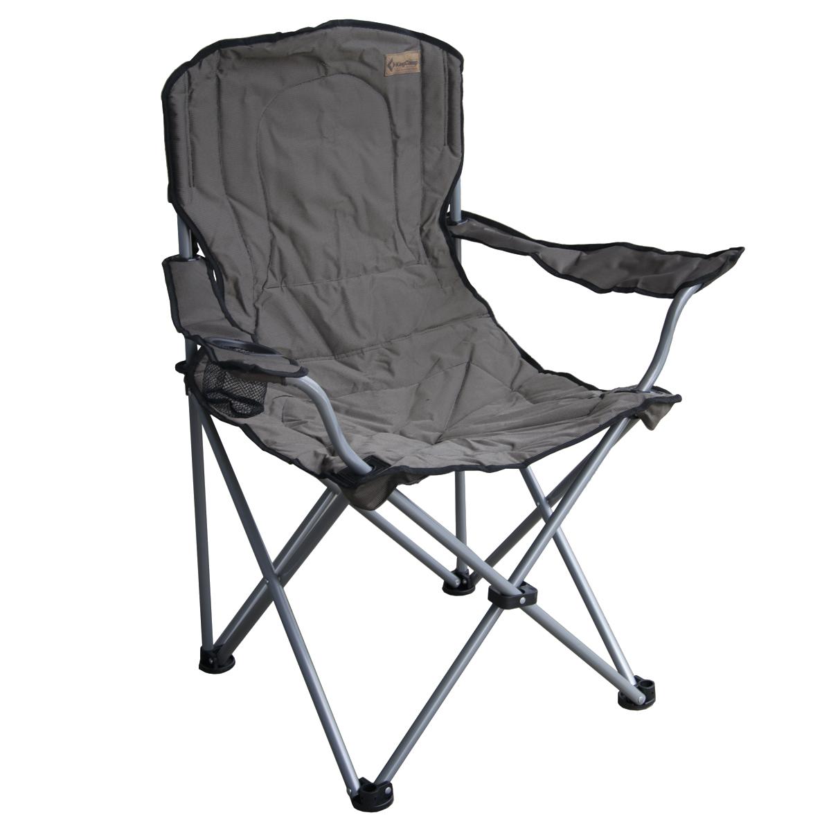 Campingová skládací židle Deluxe - hnědá