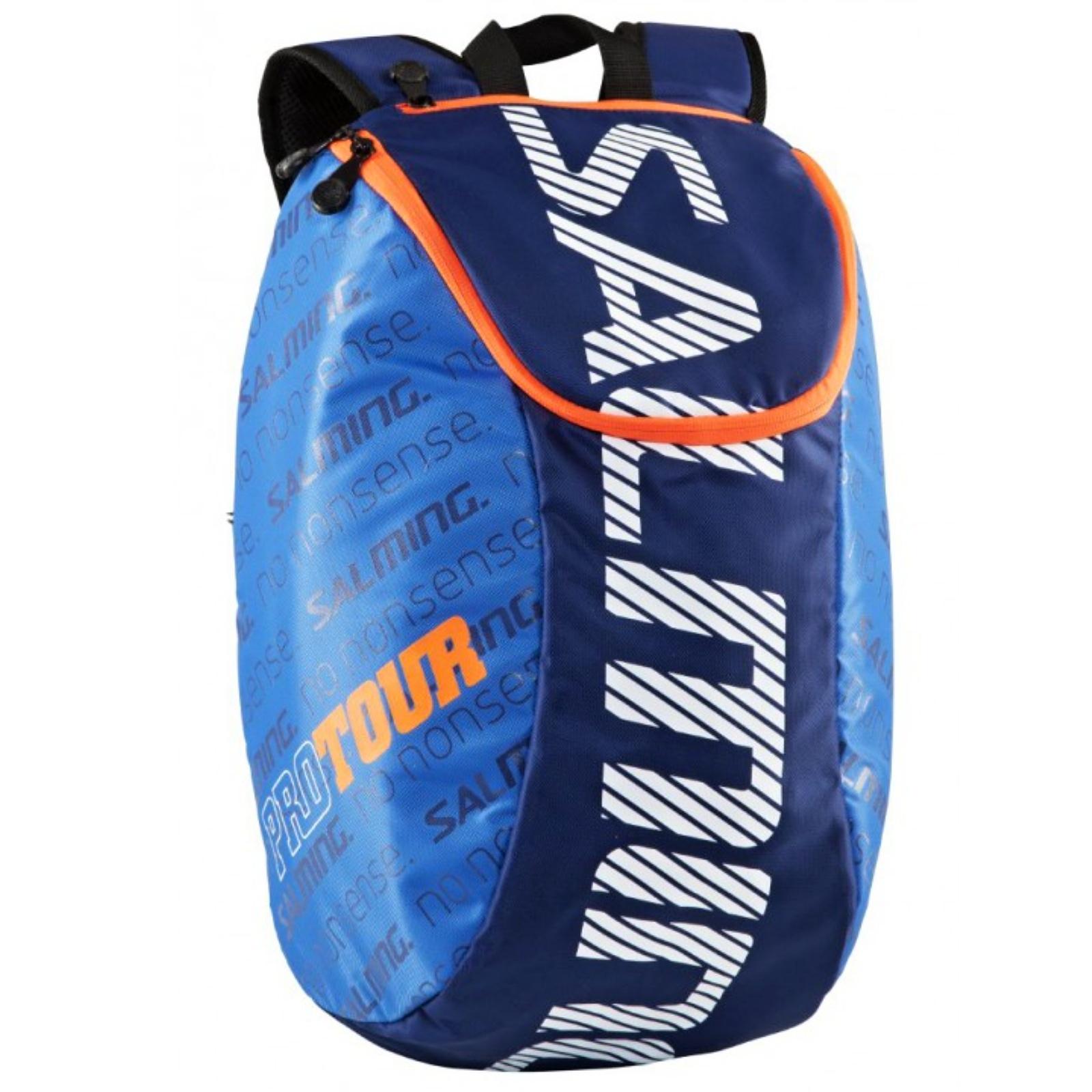 Sportovní batoh SALMING Pro Tour Backpack modrá/oranžová, 18L