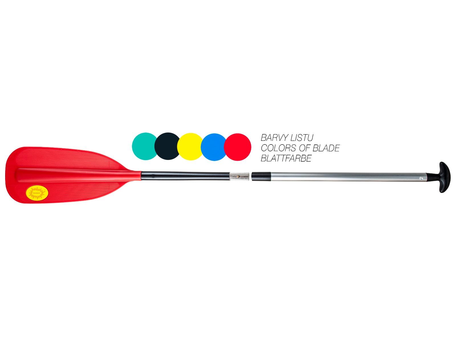 Pádlo PANDA dvoudílné červené - vel. 155 cm