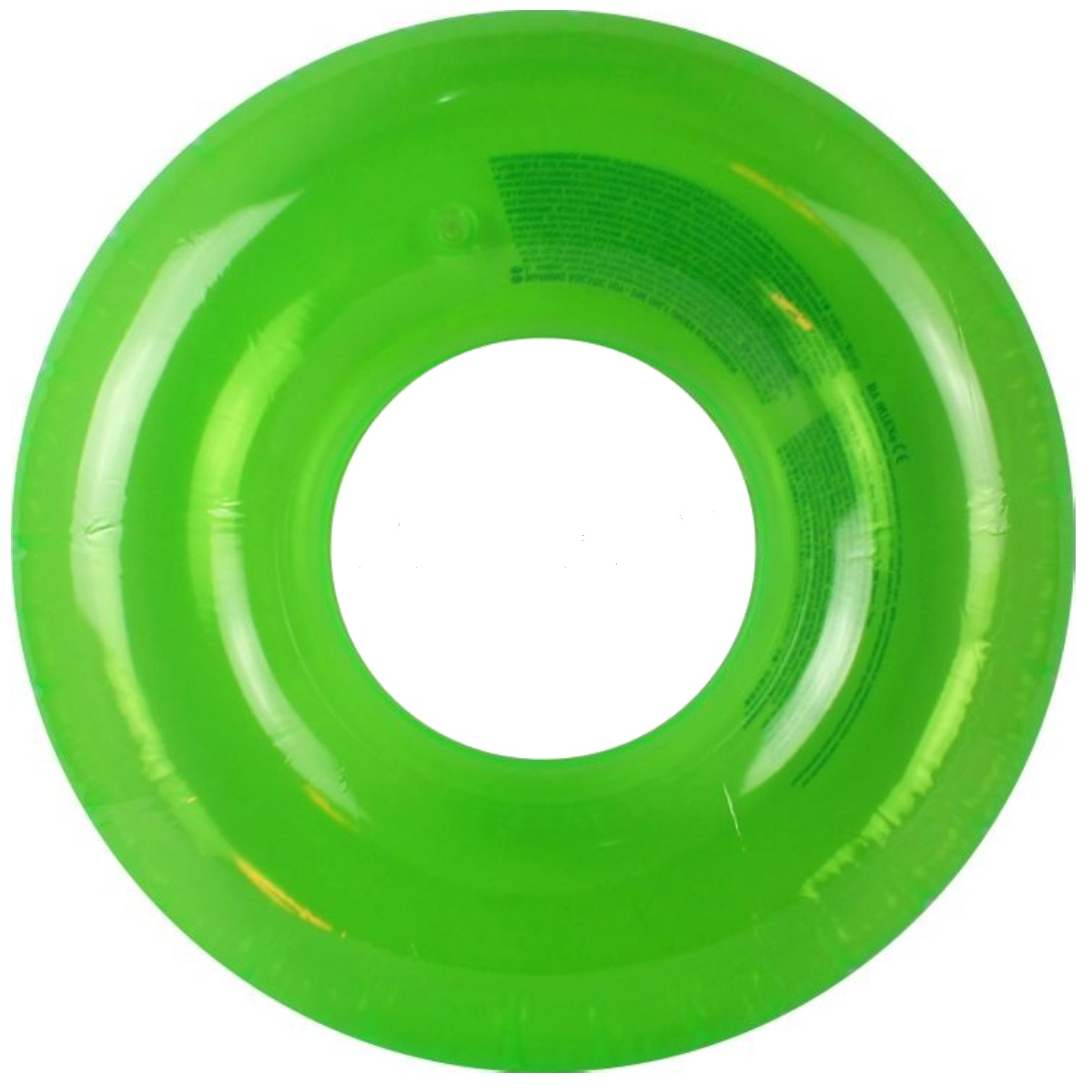 Nafukovací kruh barevný 76 cm - zelený