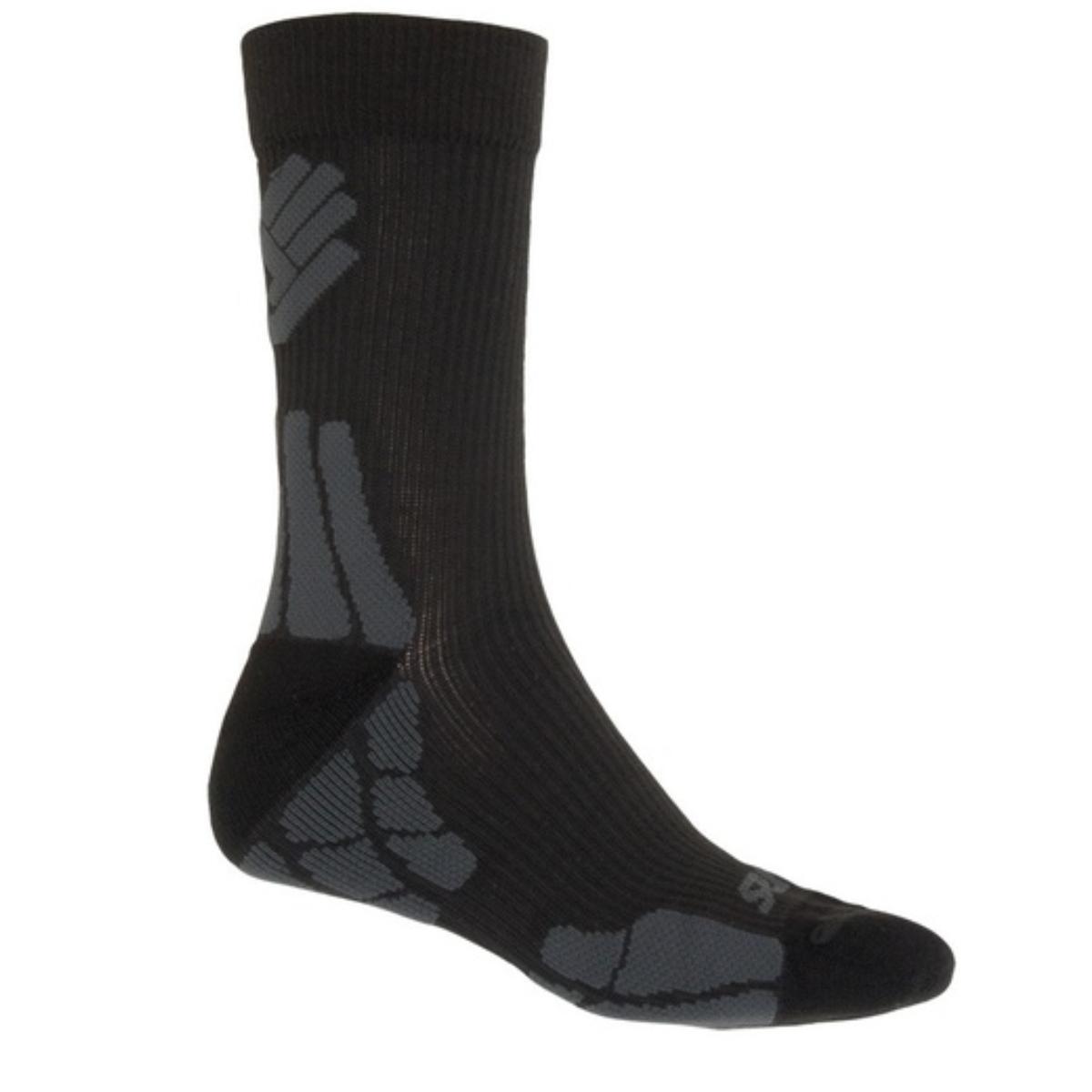 Ponožky SENSOR Merino Wool Hiking 3-5 černo-šedé