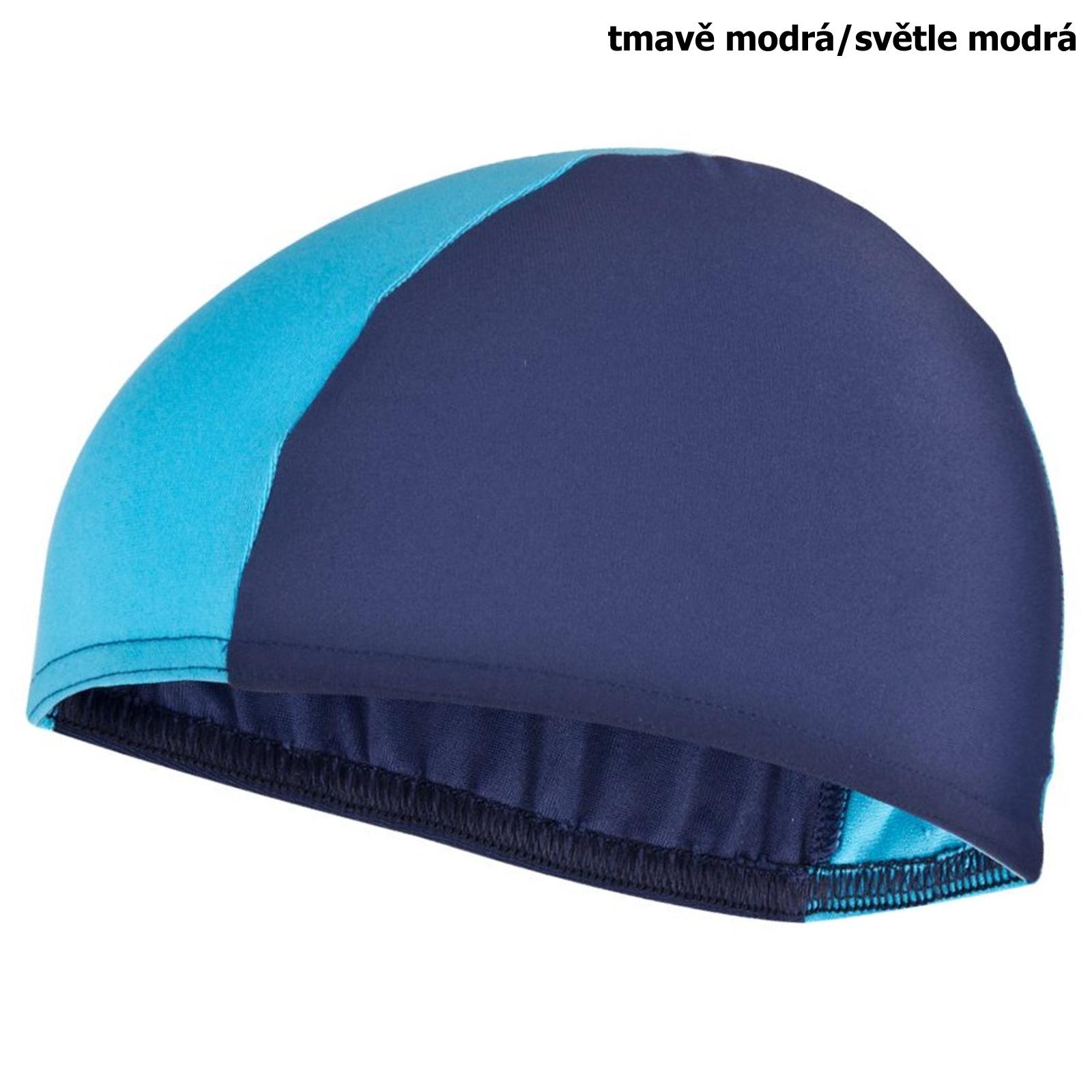 Plavecká čepice SPOKEY Lycras - tm. modro-sv. modrá