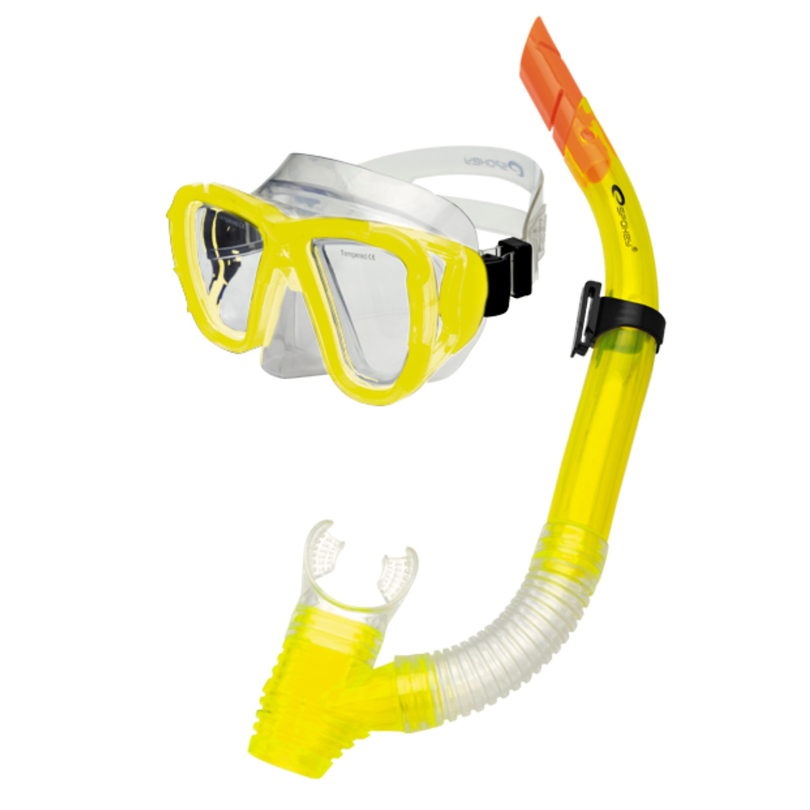Potápěčský set SPOKEY Coral - žlutý