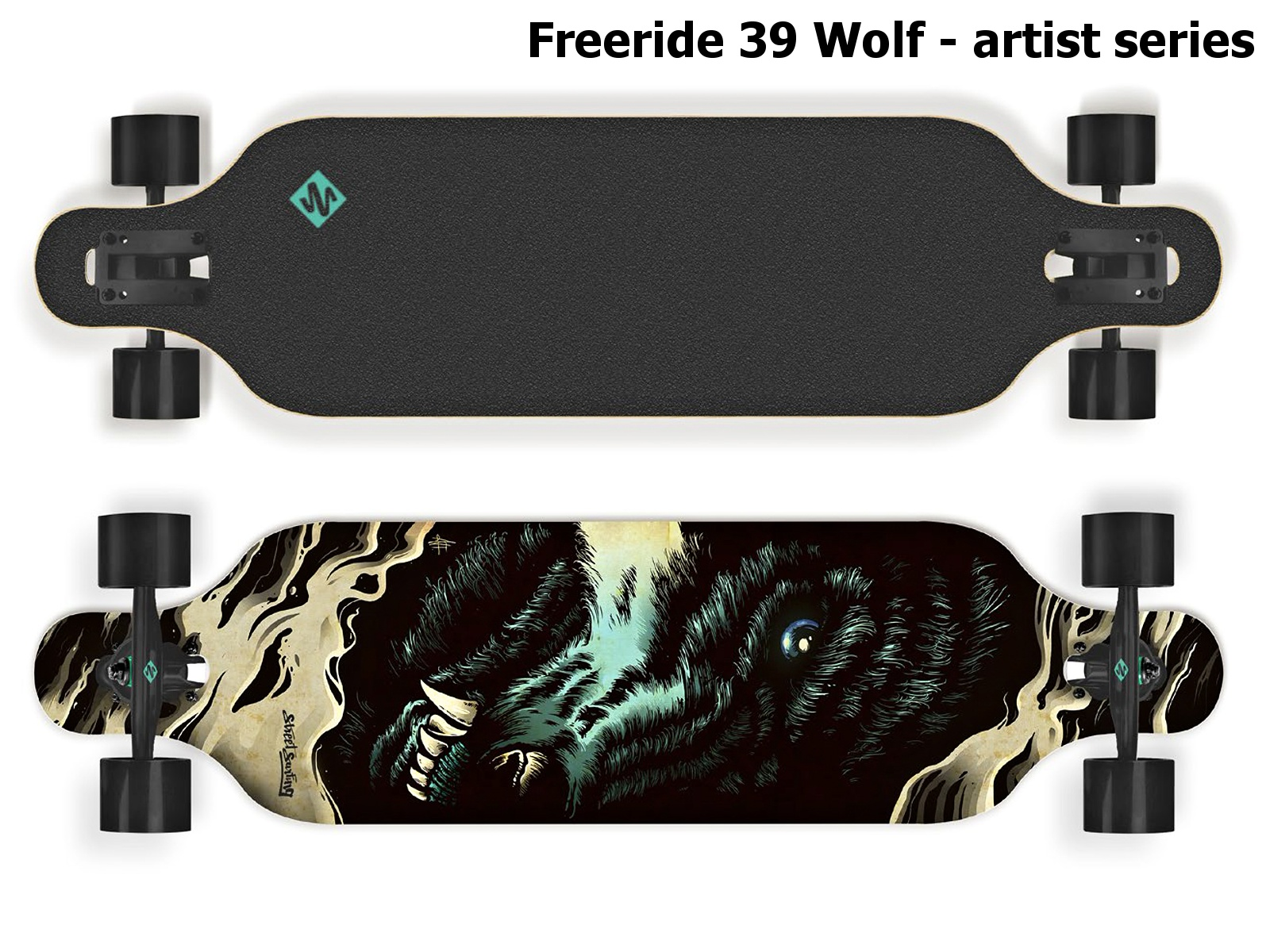 Longboard STREET SURFING Freeride 39 Wolf - vlk