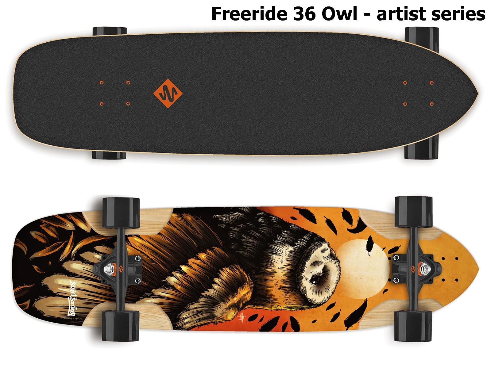 Longboard STREET SURFING Freeride 36 Owl - Sova
