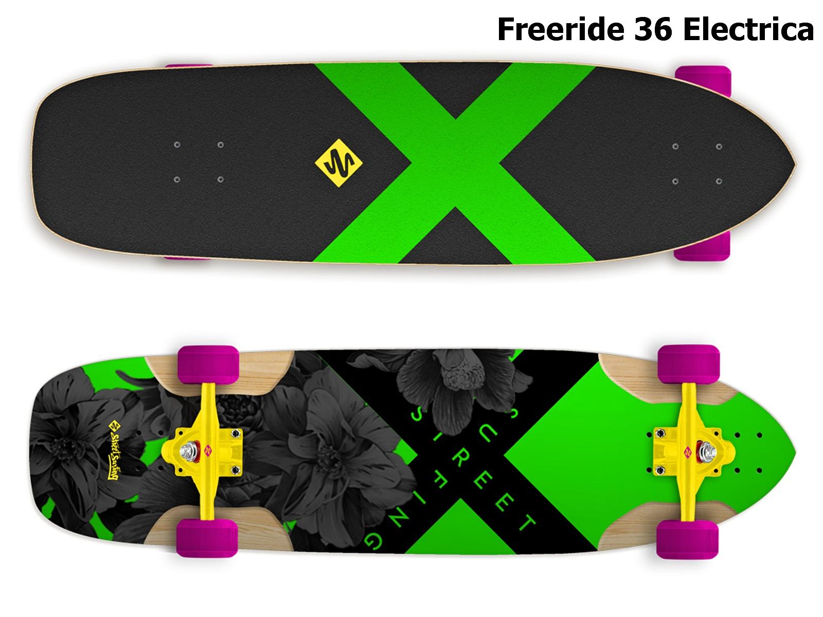 Longboard STREET SURFING Freeride 36 Electrica