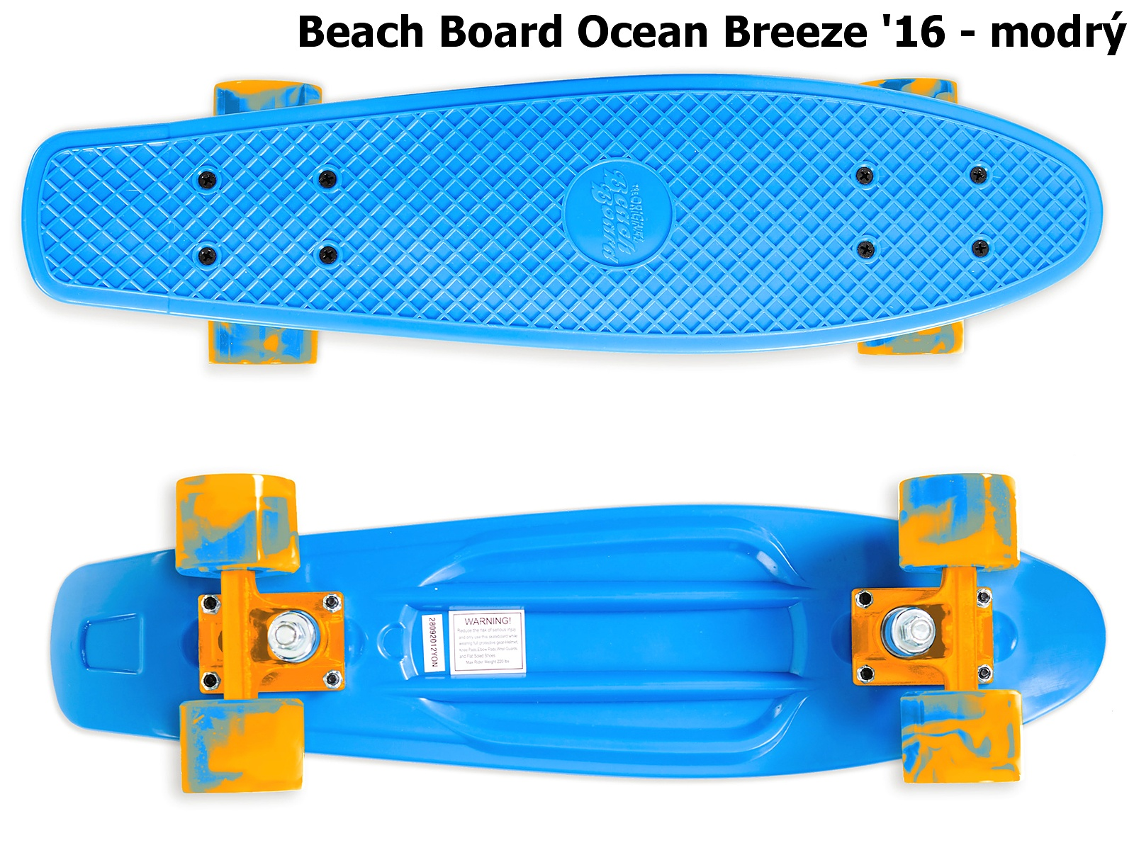 Skateboard STREET SURFING Beach Board Ocean Breeze - modrý