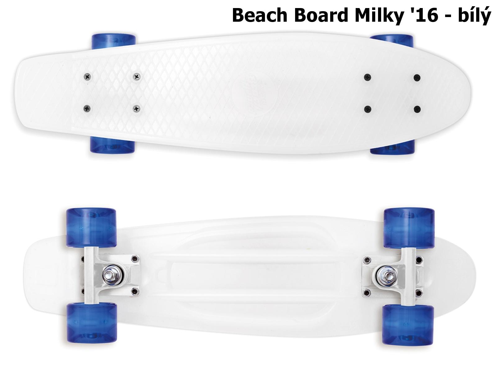Skateboard STREET SURFING Beach Board Milky - bílý