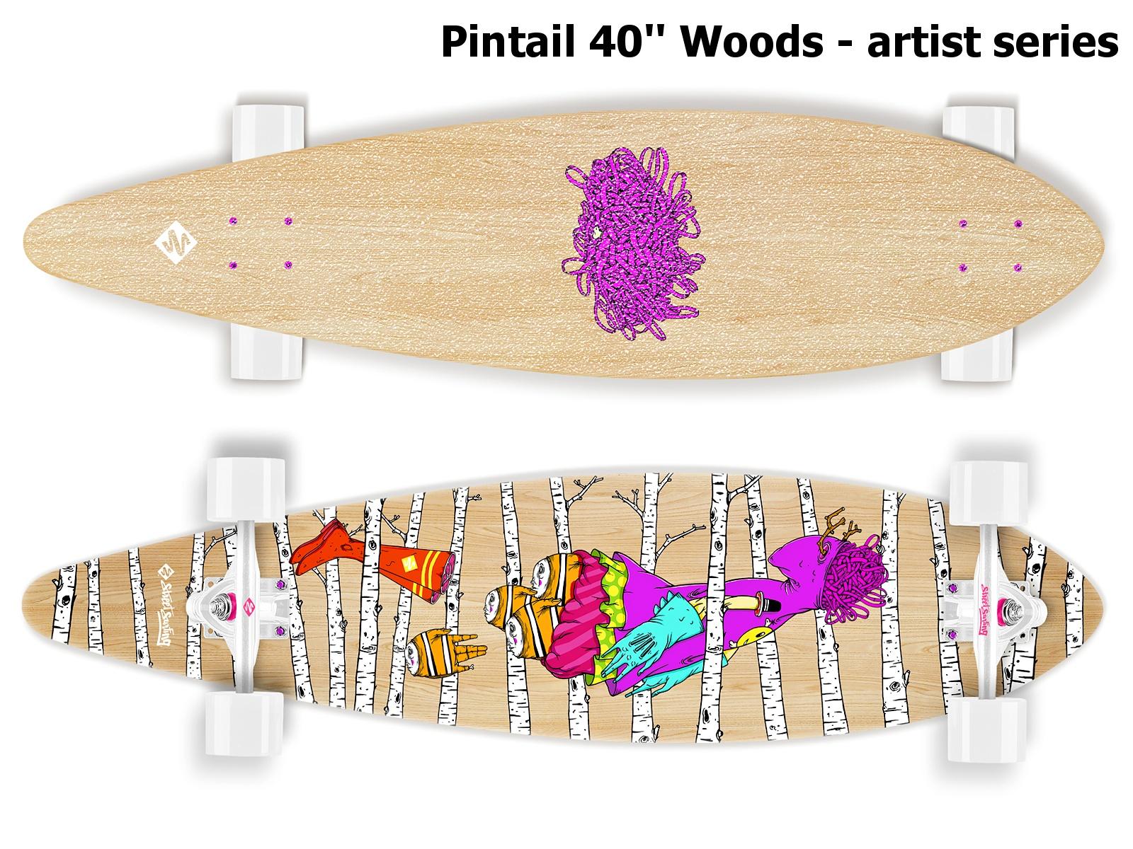Longboard STREET SURFING Pintail 40 Woods