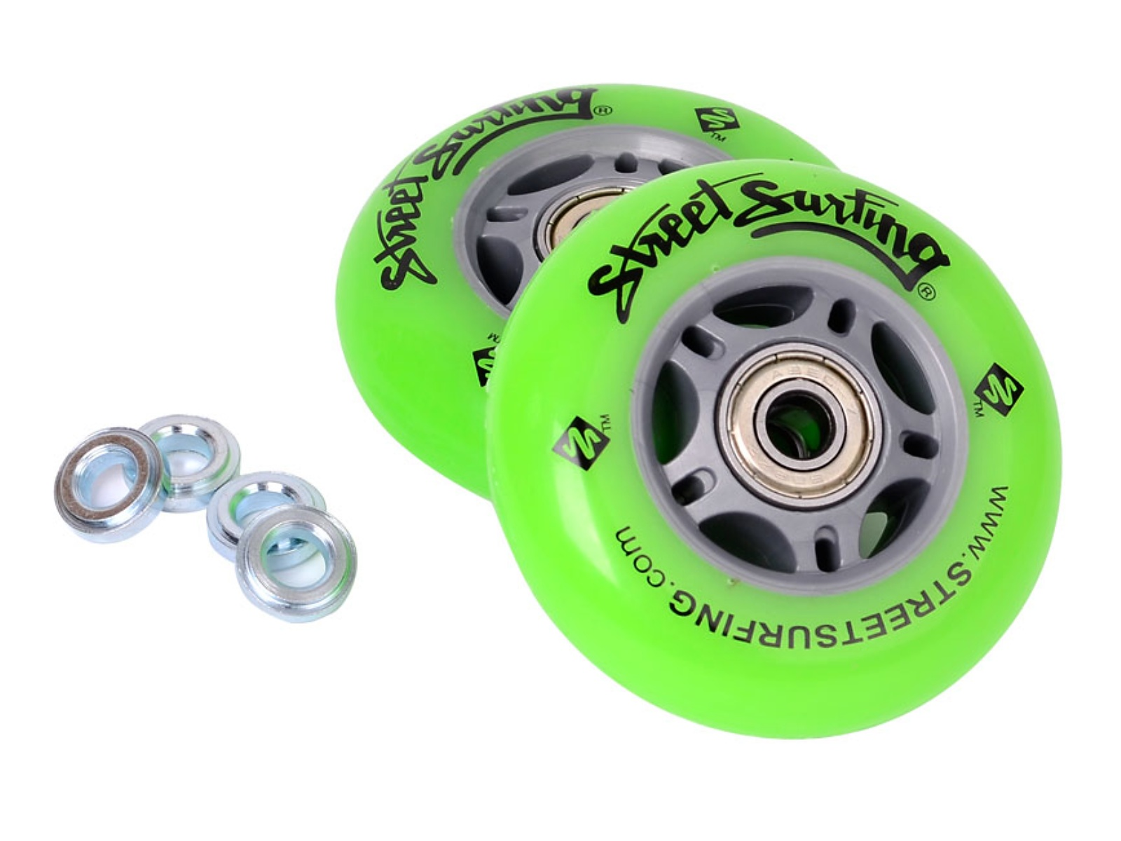 Kolečka pro Waveboard STREET SURFING (Original, LX, Mini SL) set 2ks - zelená
