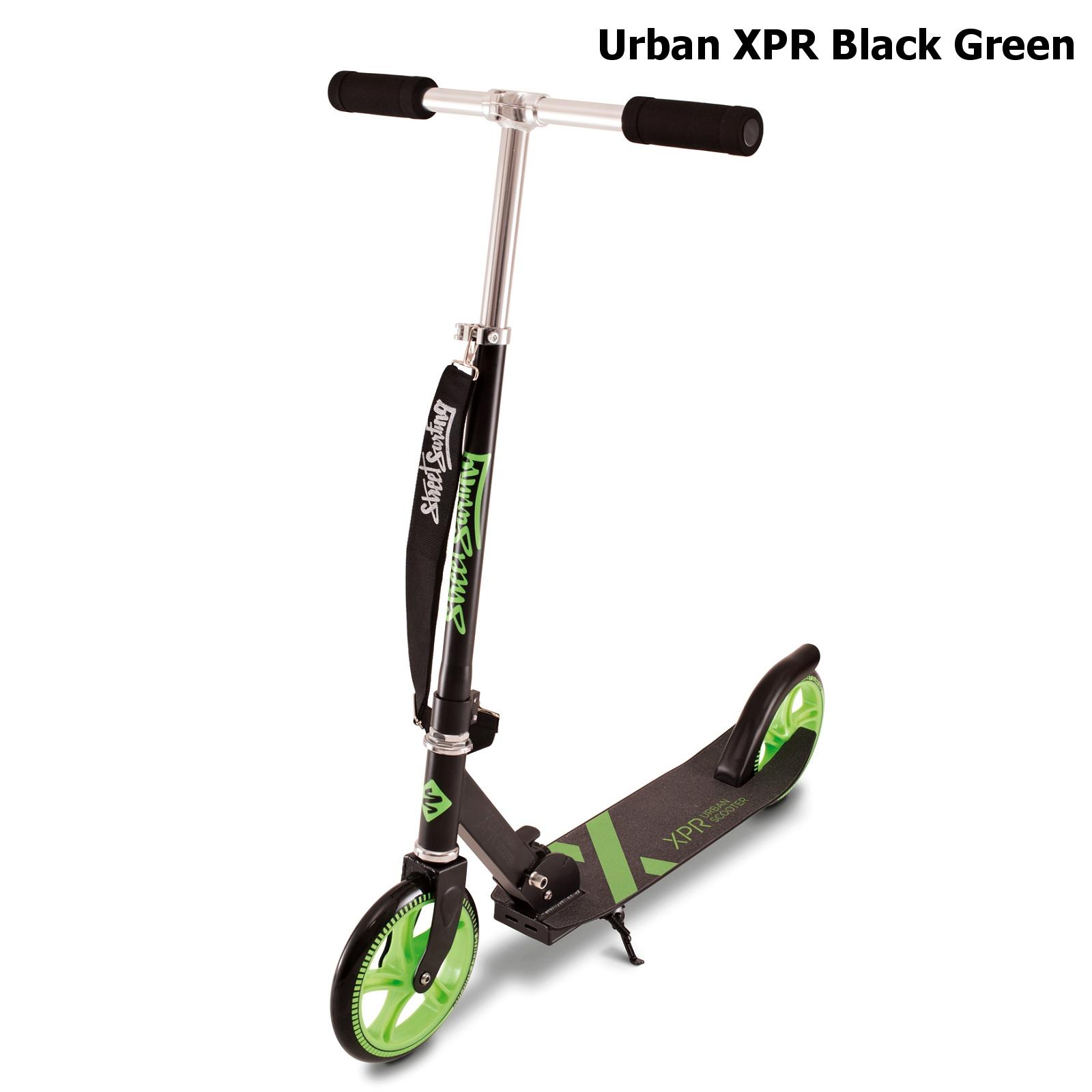 Koloběžka STREET SURFING Urban XPR - černo-zelená
