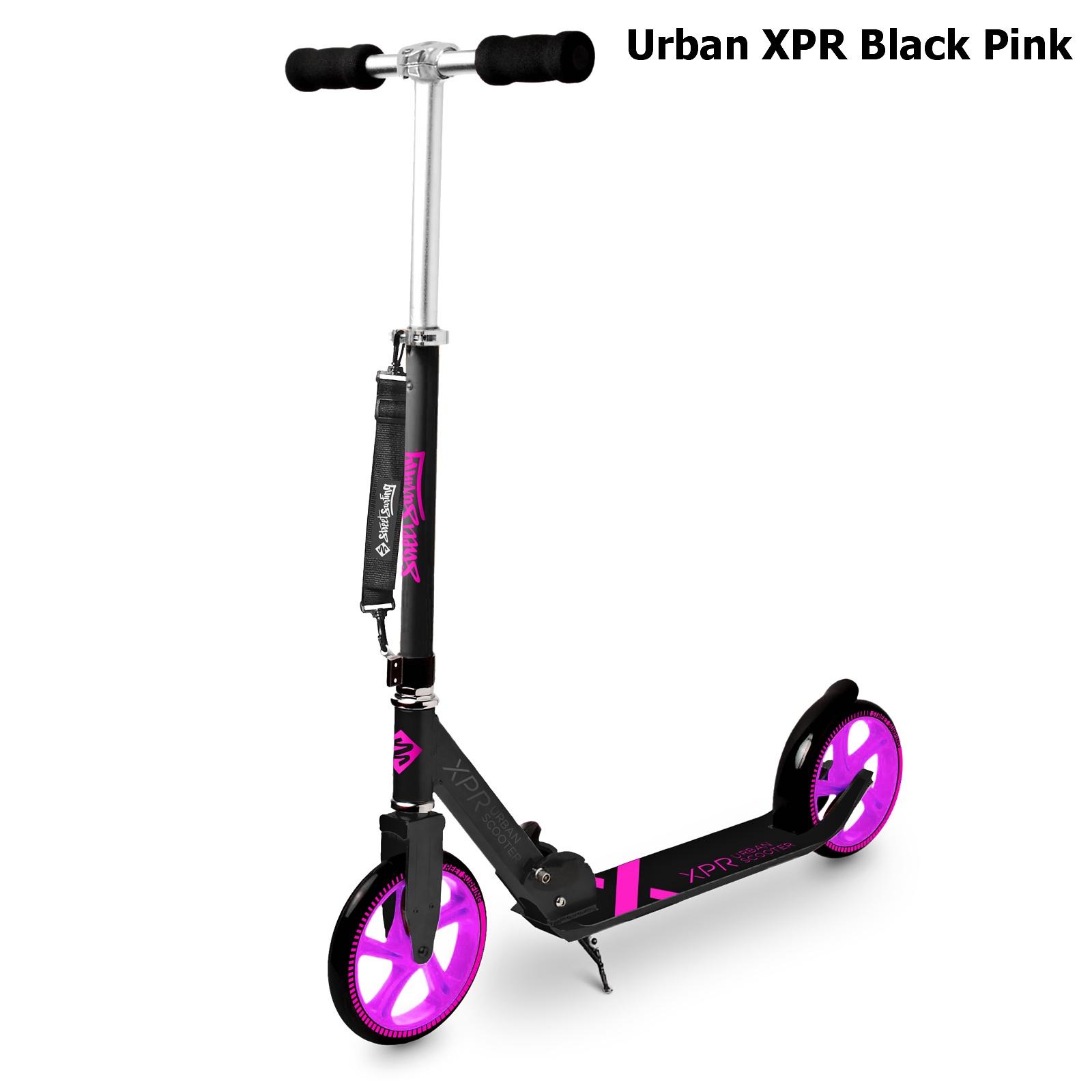Koloběžka STREET SURFING Urban XPR - černo-růžová