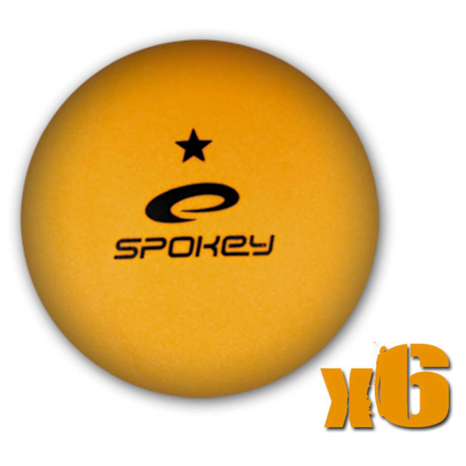 Míčky na stolní tenis SPOKEY Lerner, 6ks - oranžové