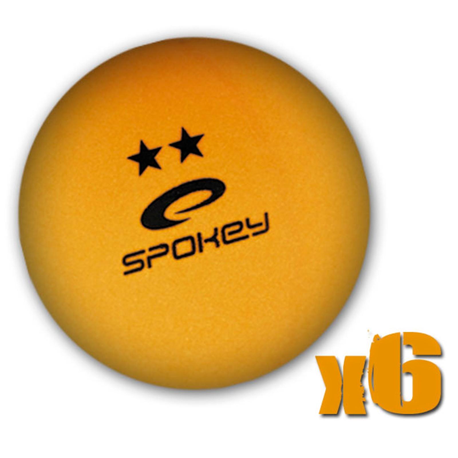 Míčky na stolní tenis SPOKEY Skilled, 6ks - oranžové