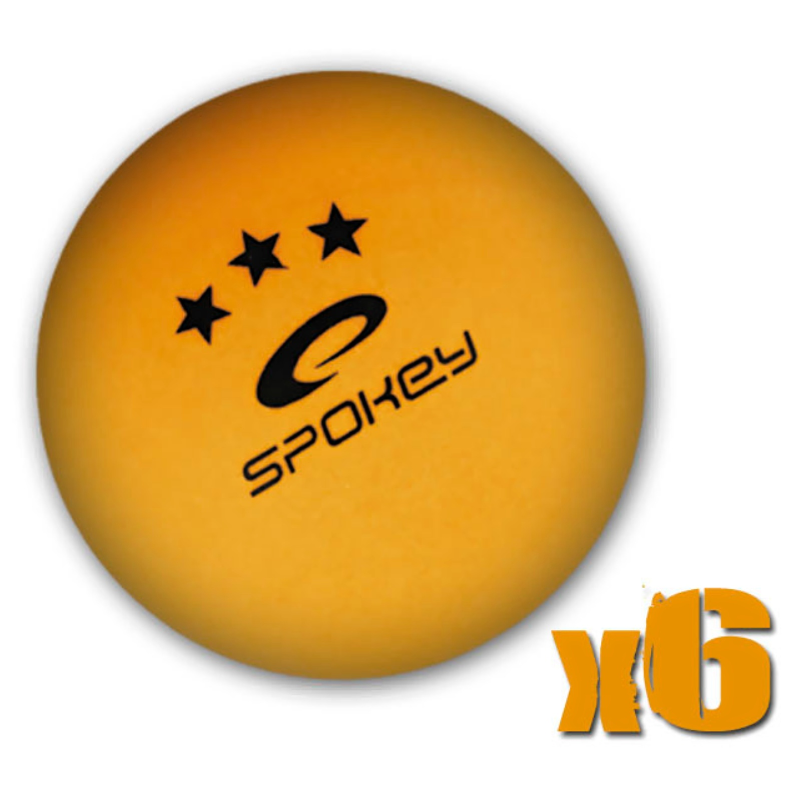 Míčky na stolní tenis SPOKEY Special, 6ks - oranžové