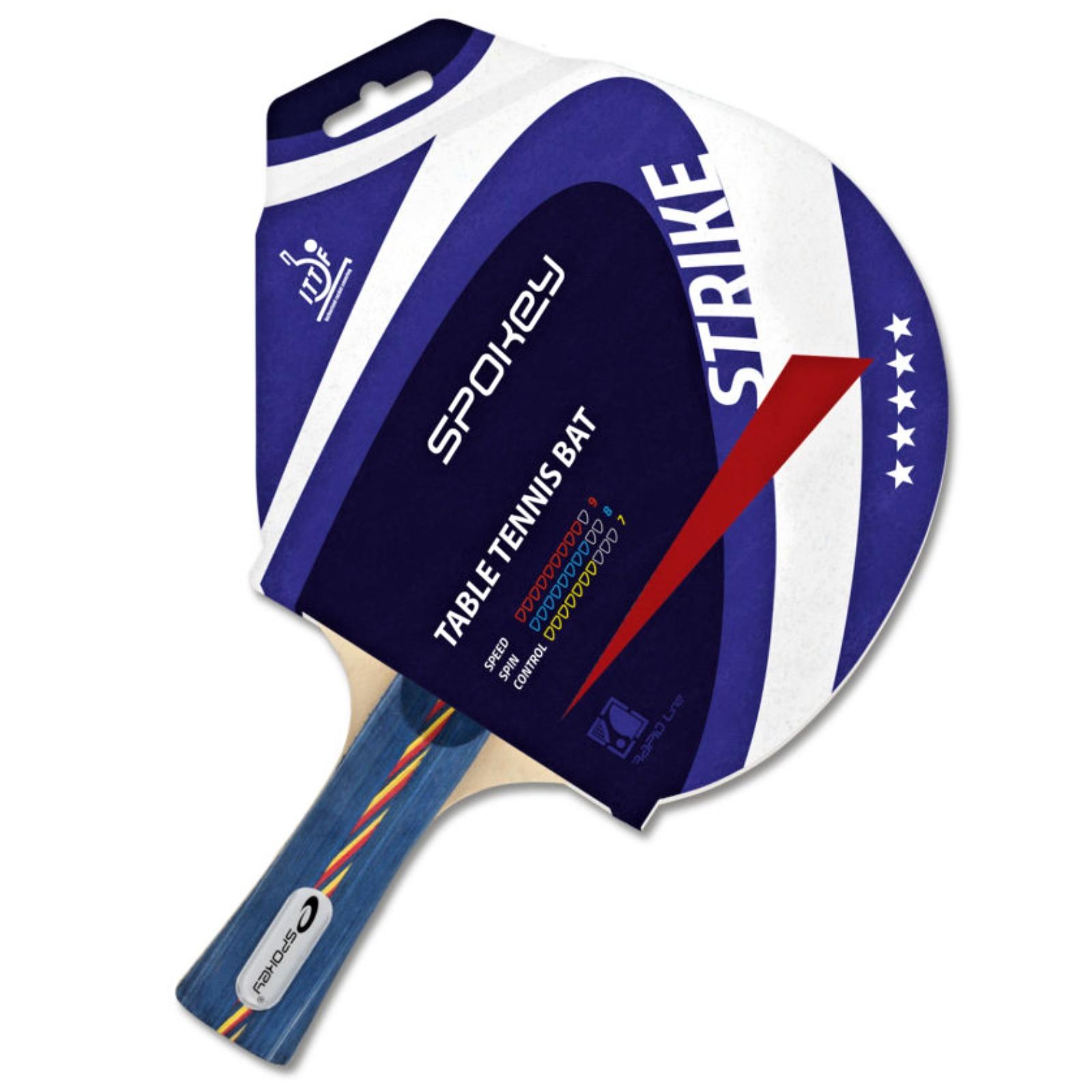 Pálka na stolní tenis SPOKEY Strike, profilovaná rukojeť