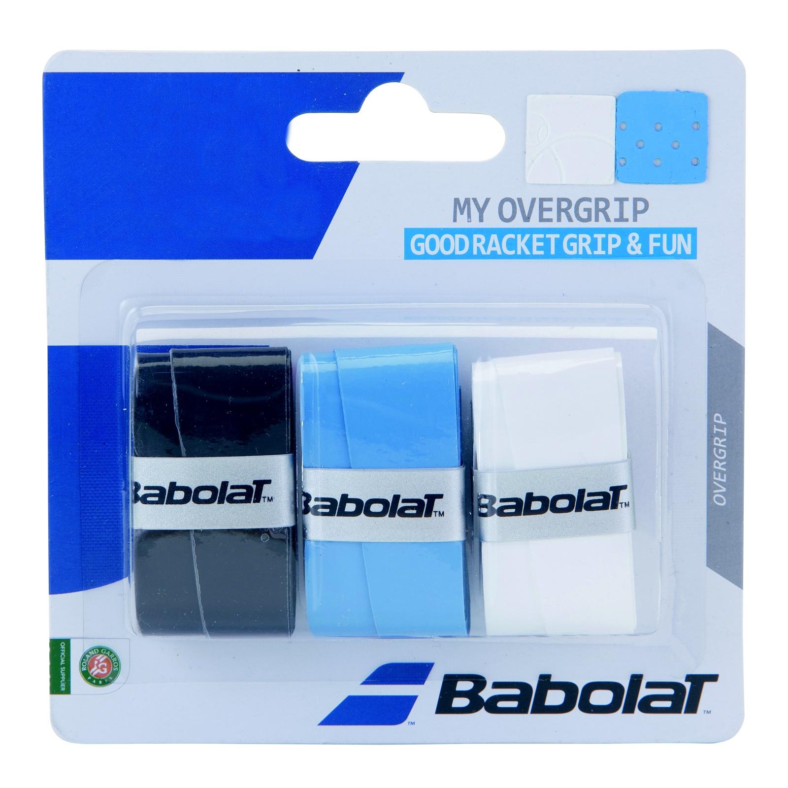 Tenisová omotávka BABOLAT My Overgrip bílá/modrá/černá