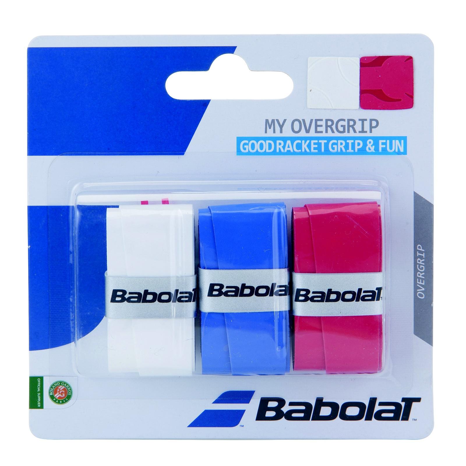 Tenisová omotávka BABOLAT My Overgrip bílá/modrá/červená