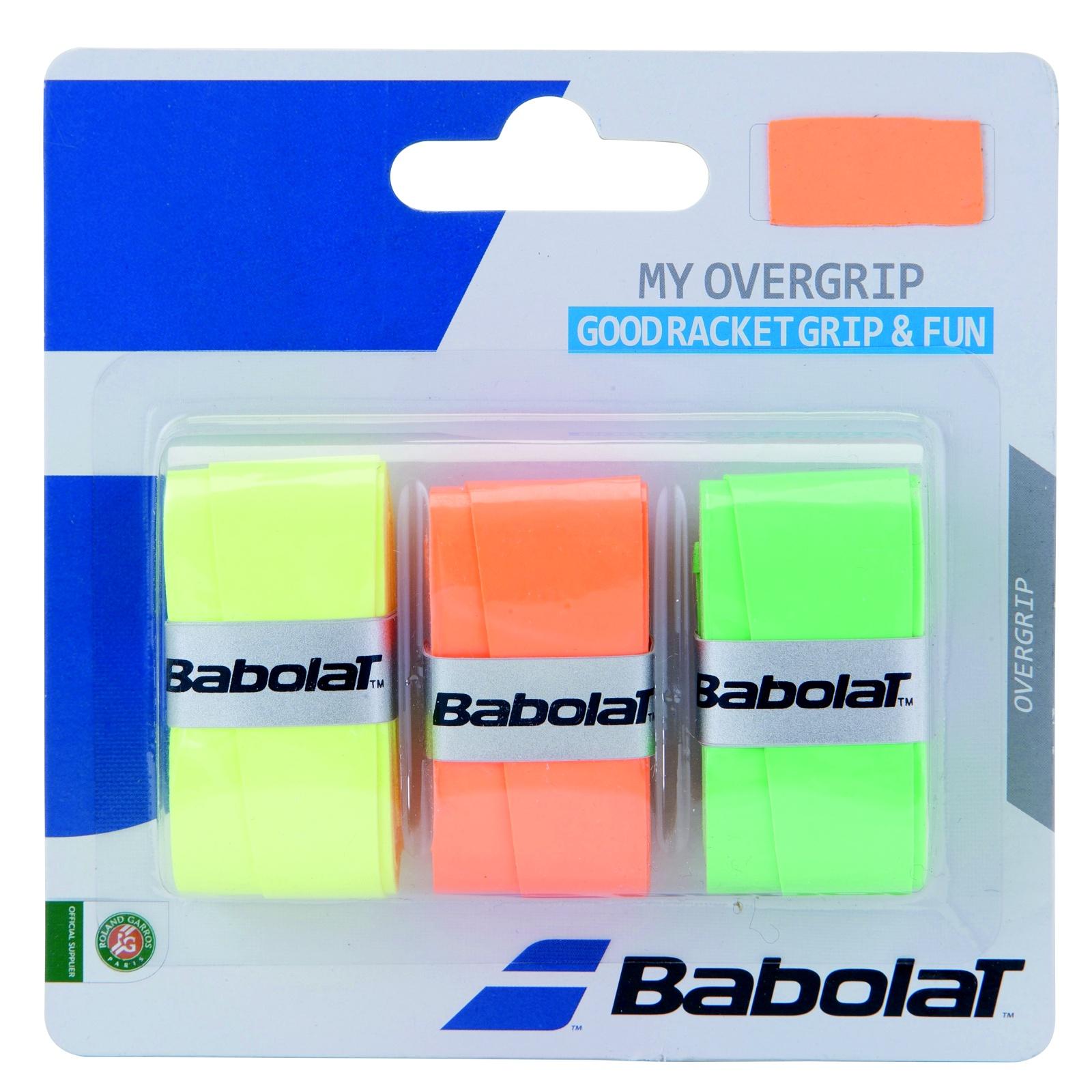 Tenisová omotávka BABOLAT My Overgrip oranžová/zelená/žlutá