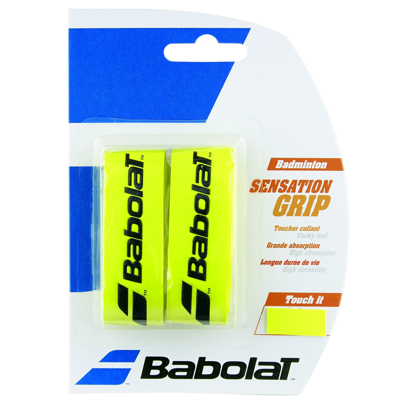 Badmintonový grip BABOLAT Sensation Grip X2 žlutý