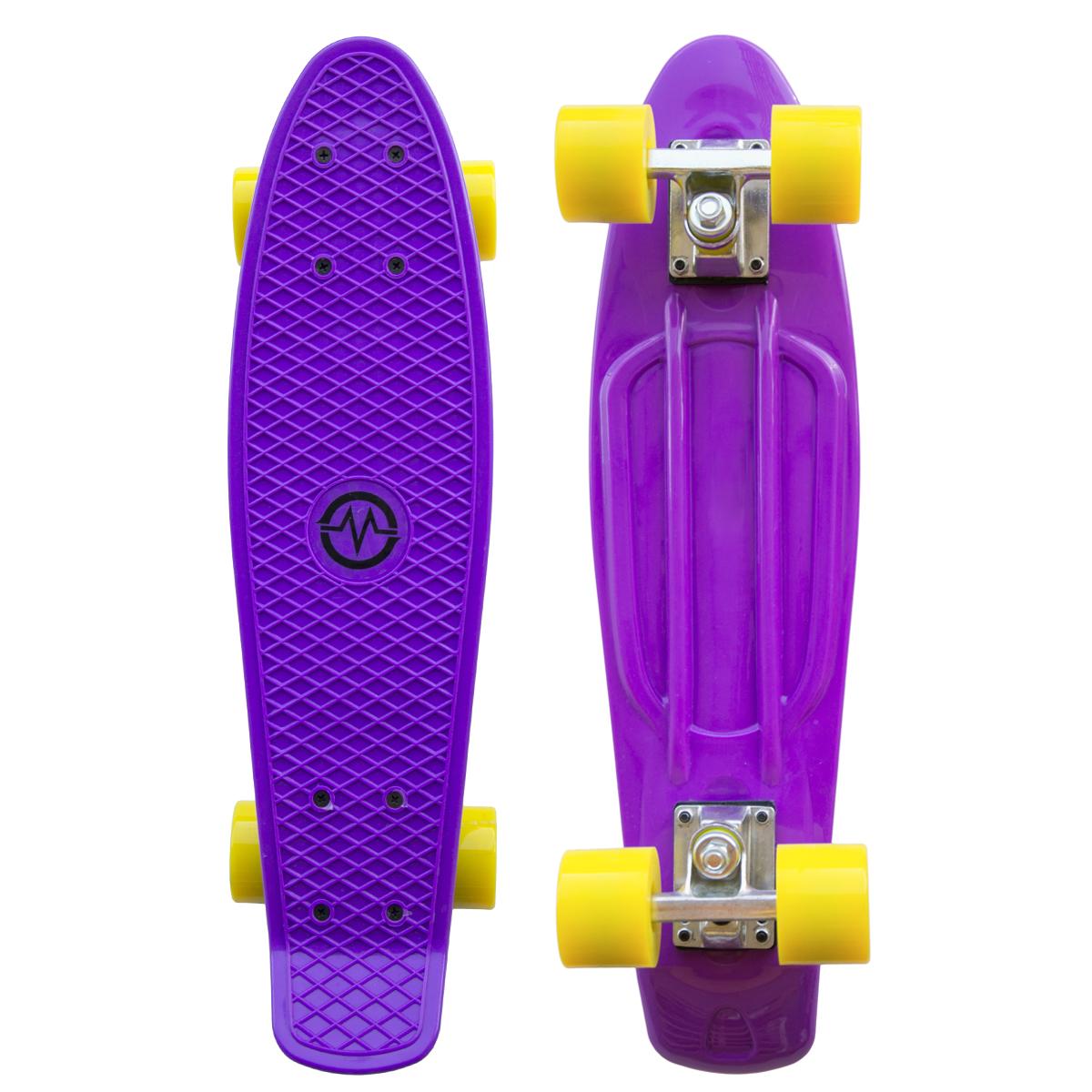 """Plastik Penny Board MASTER 22"""" - fialový"""