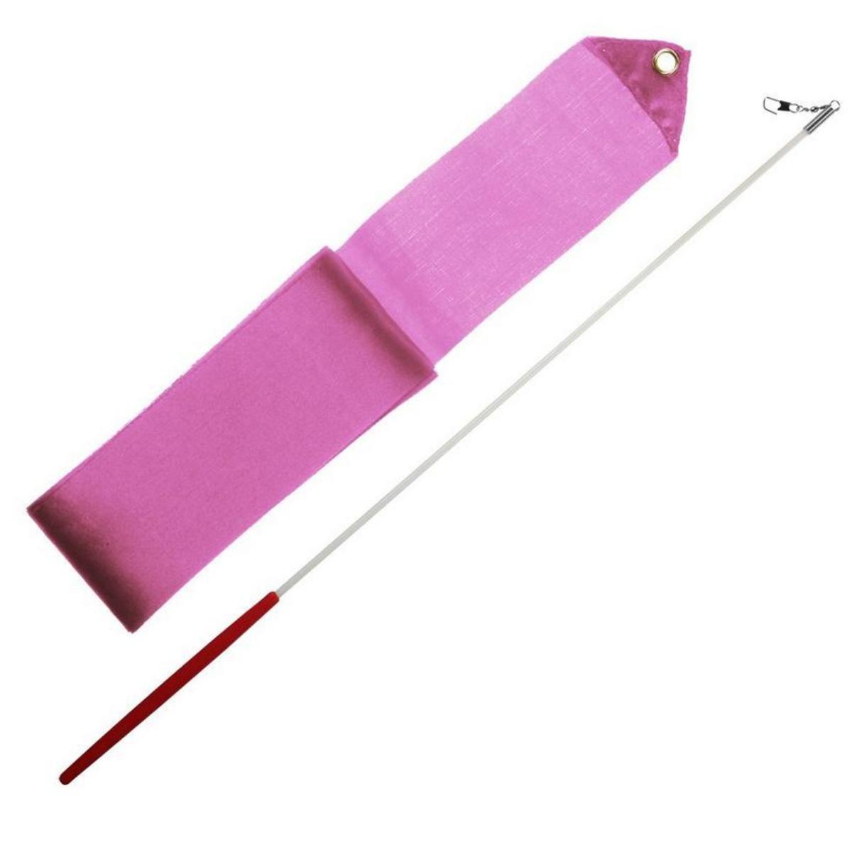 Gymnastická stuha 3m + tyčka junior - sv. růžová