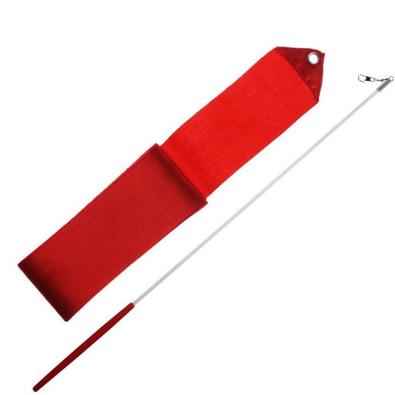 Gymnastická stuha 3m + tyčka junior - červená
