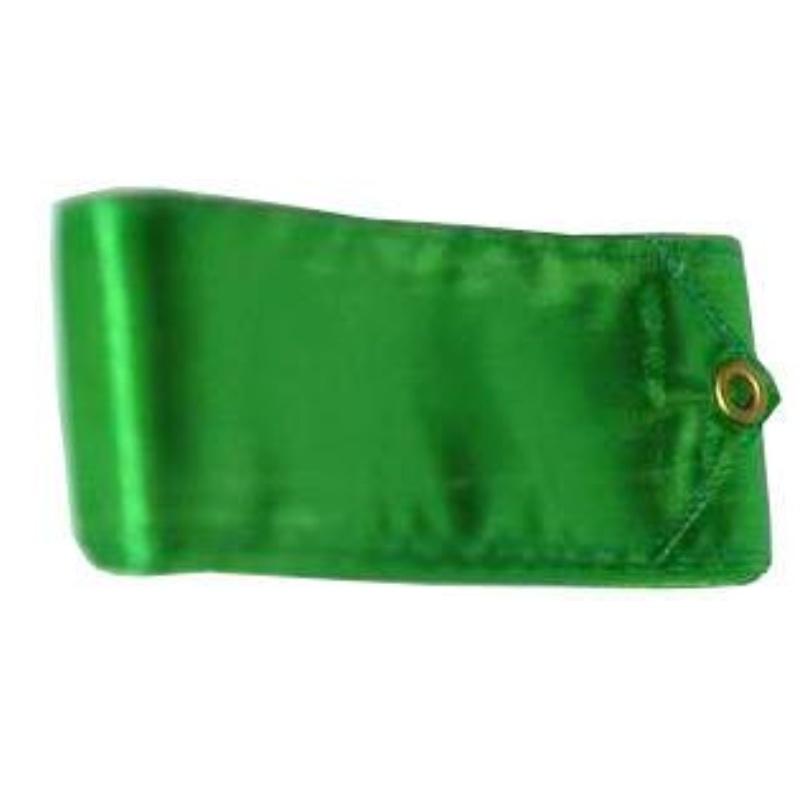 Gymnastická stuha 3m + tyčka junior - tm. zelená