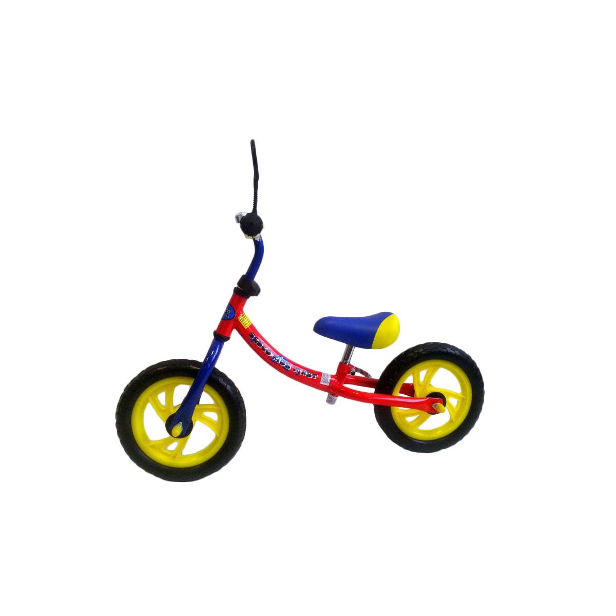 Dětské odrážedlo SEDCO Kids First TC007 - modro-žluto-červené