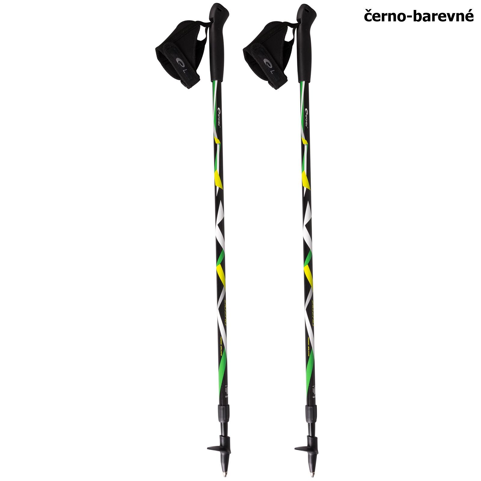 Trekingové hole SPOKEY Zigzag Nordic Walking - černo-barevné
