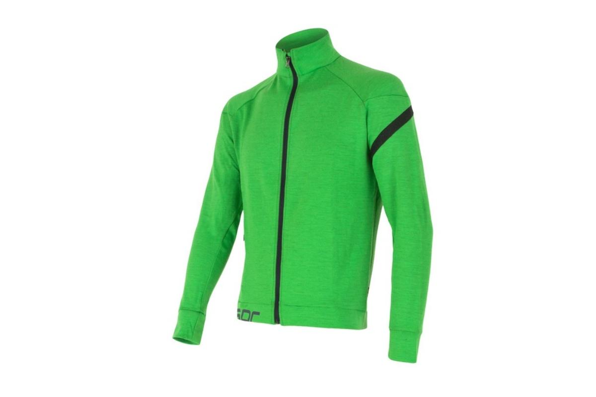 Mikina SENSOR Merino Wool Multistretch pán. M zelená