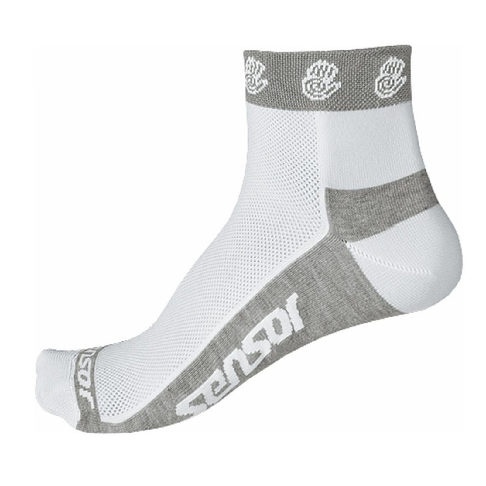Ponožky SENSOR Race Lite Ručičky 6-8 bílé