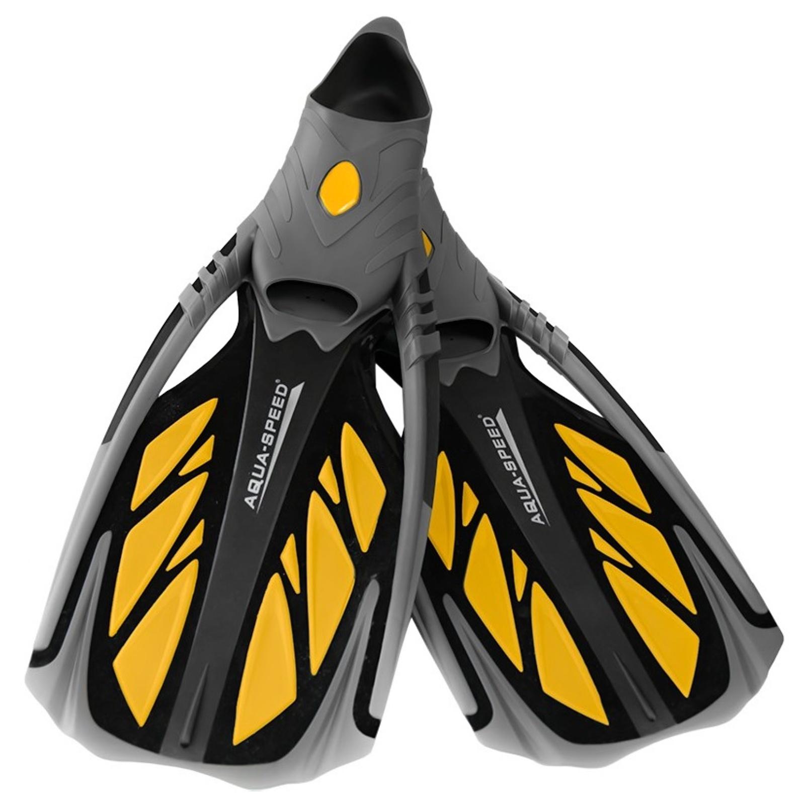 Ploutve AQUA-SPEED Inox žluté - vel. 38-39