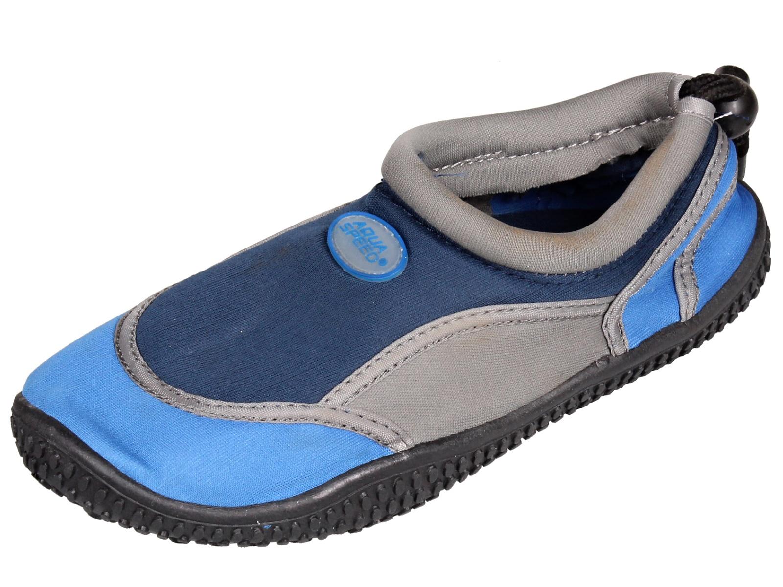 Boty do vody AQUA-SPEED 21A dětské modré - vel. 28