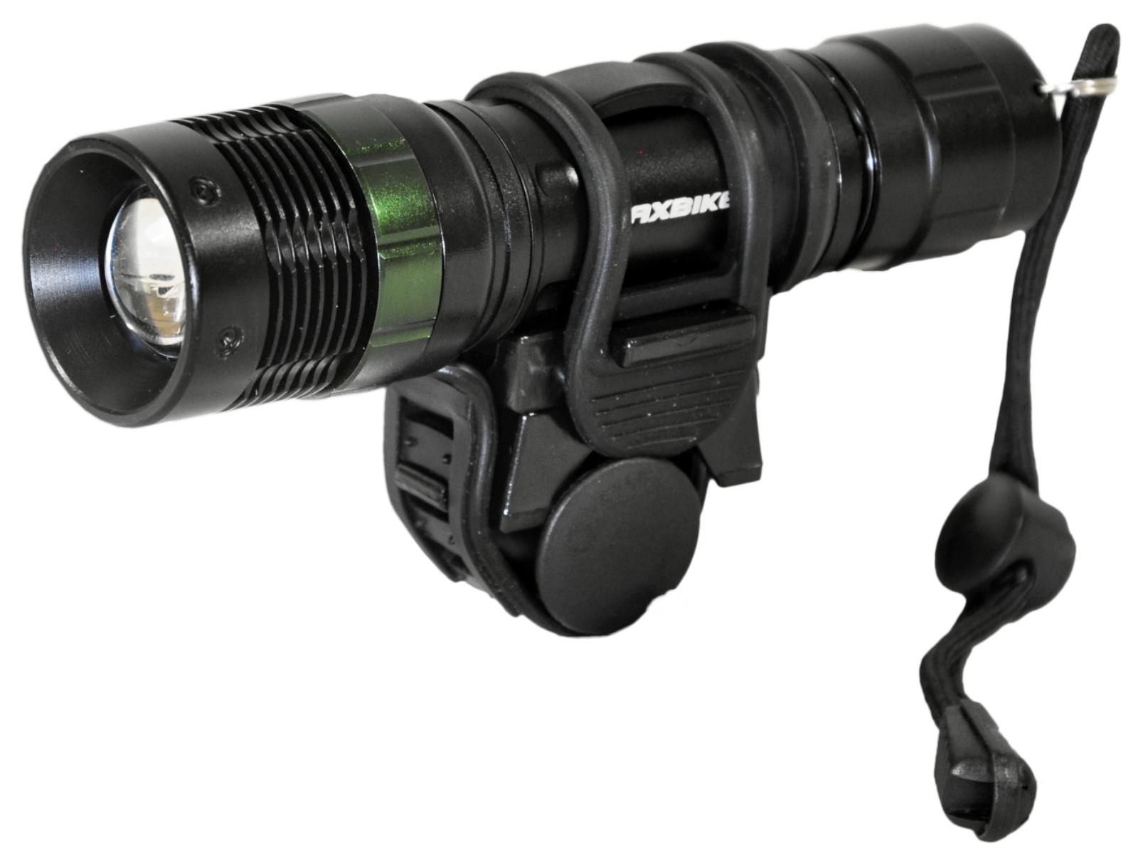 Baterka MAXBIKE JY-871 zoomovací s držákem, 500 lumenů